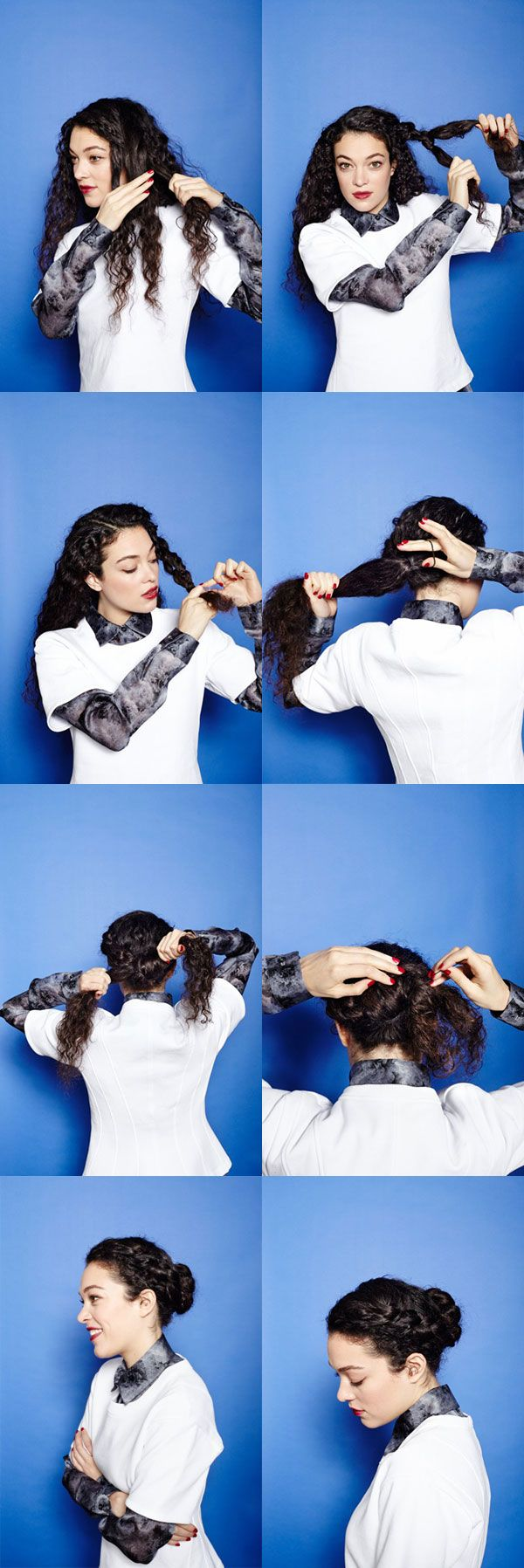 Cachos, penteados e cortes p/grandes cabeleiras.