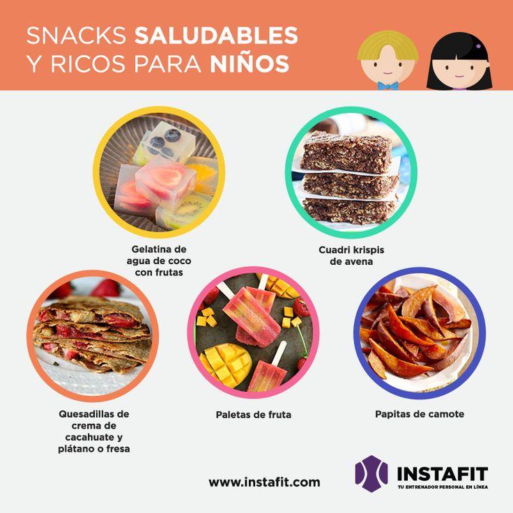 Snacks saludables para tus hijos  #children #moms #healthy #snacks