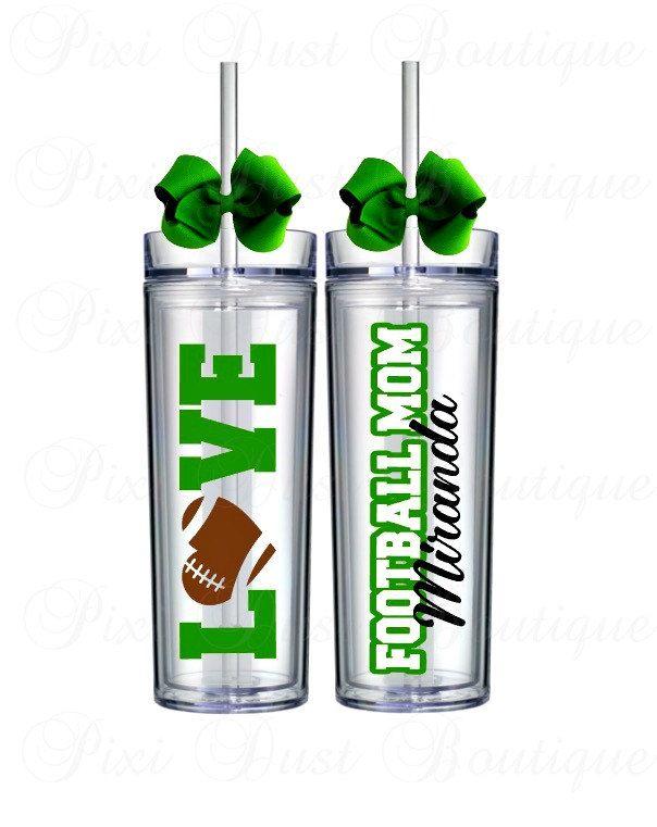 Football, Football Gifts, Football Cup, Football Tumbler, Football Water Bottle, Football Mom, Personalized Football, Custom Water Bottle - pinned by pin4etsy.com