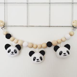Angels Handmade - wagenspanner gehaakte panda
