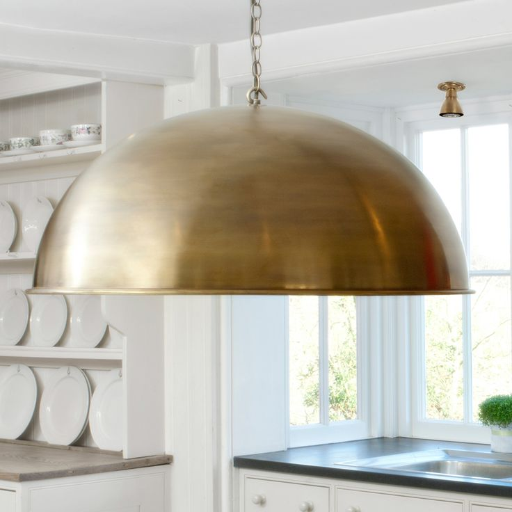 This #oversized #brass #pendant is a beautiful addition to your #kitchen or over a #dining room table
