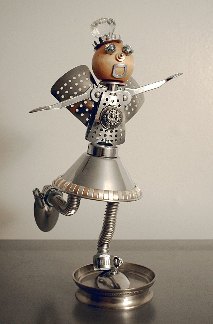 """Found object art- """"Princess Fairy Nuts""""- Approx. 13"""" tall."""