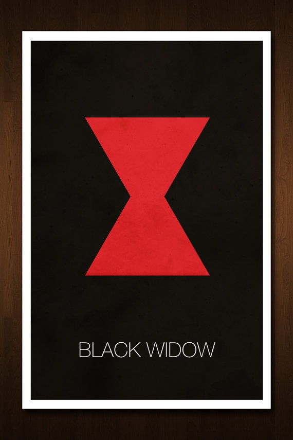 Black Widow Avenger Art Print  Poster by designbynickmorrison, $11.99
