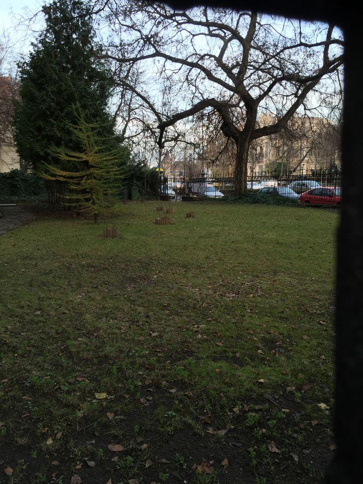 Andrássy úti villa kert.