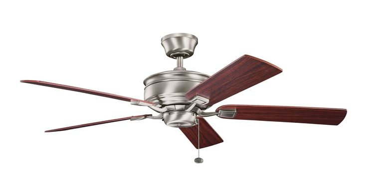 "Kichler 300178 52"" Indoor Ceiling Fan with Blades Downrod and Pull Chain Antique Pewter Fans Ceiling Fans Indoor Ceiling Fans"