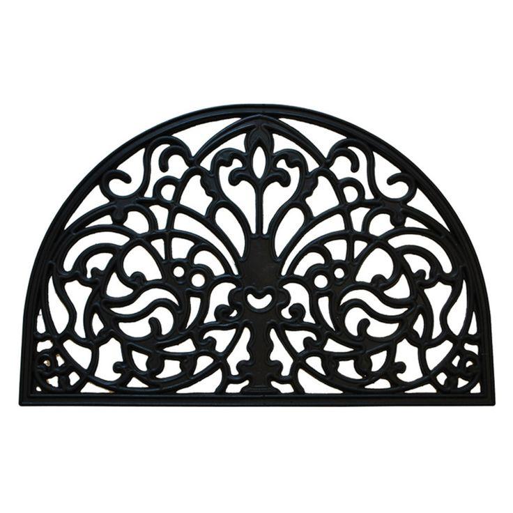 Creative Accents Florentine Wrought Iron Indoor / Outdoor Rubber Door Mat - 20041