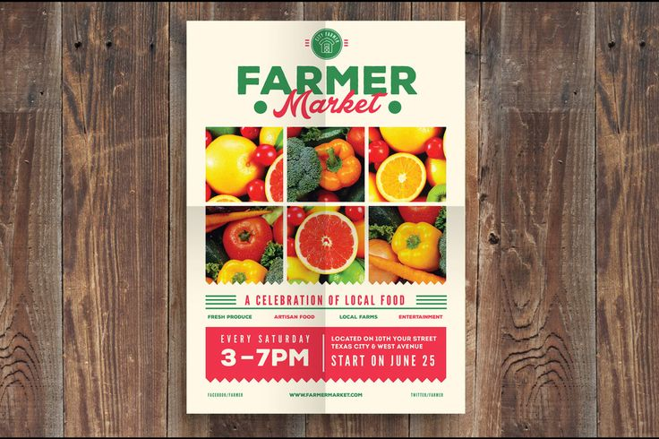 Farmer Market Event Flyer by Guuver on Envato Elements