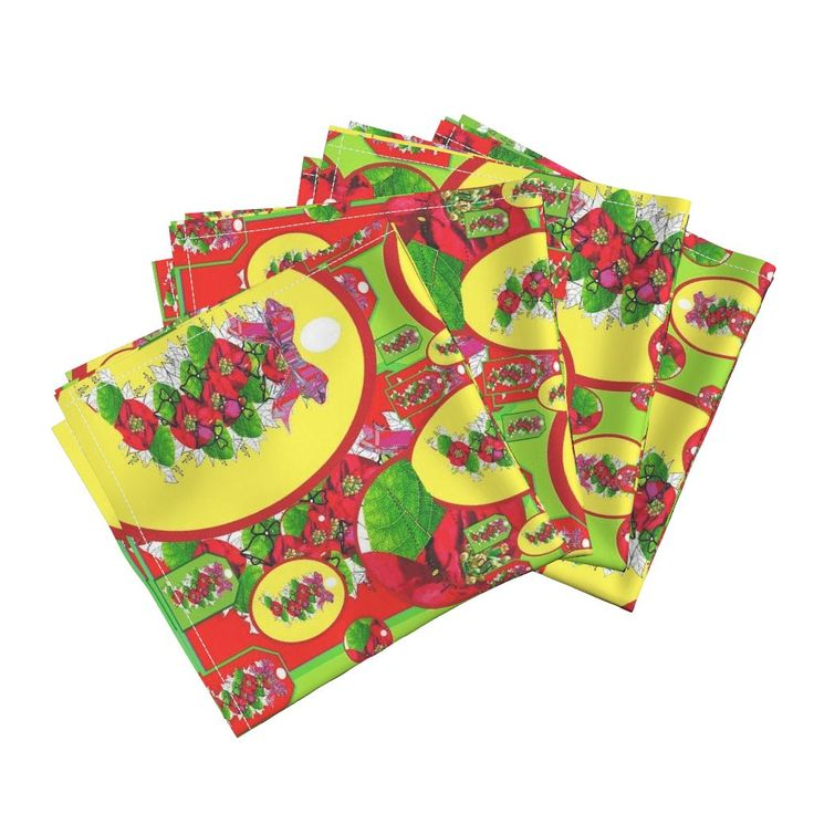 Amarela Dinner Napkins featuring  Colourful  Christmas  by vondy | Roostery Home Decor