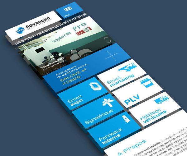 Blue and White Square Design