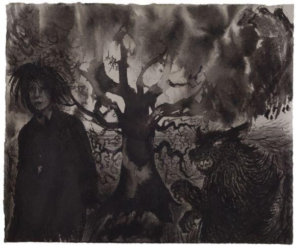 Elina Merenmies: Self Portrait with a Werewolf