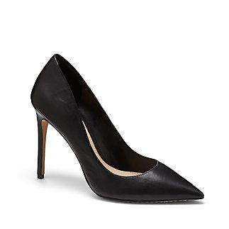 """VINCE CAMUTO NORIDA - CLASSIC POINT TOE HIGH HEEL-When we caught a glimpse of the Norida, it caught our attention from the first """"high!""""-- heel. Punctuate your style with this sharp pump. A strong pointed toe and notable incline deliver long and lean lines. It will complement any attire, especially with a structured satchel.   <li> 4"""" heel <li> Leather/fabric upper, man-made lining and sole <li> Made in China"""