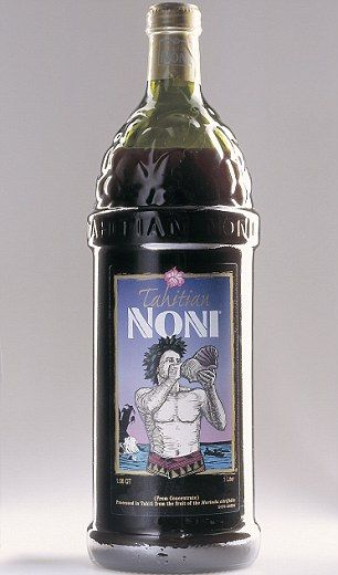 Super juice: A bottle of Mirandas beloved Tahitian Noni Juice cost around $38 a litre .............................................. Coconut water as energy drink thruout the day