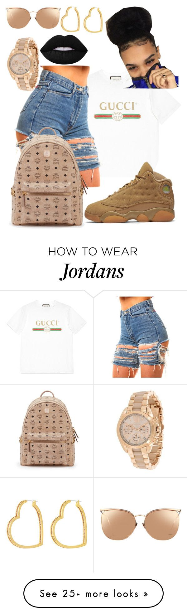 """""""You on fire """" by vjur-tw on Polyvore featuring Gucci, NIKE, MCM, Linda Farrow, Lime Crime, MICHAEL Michael Kors and Henri Bendel"""