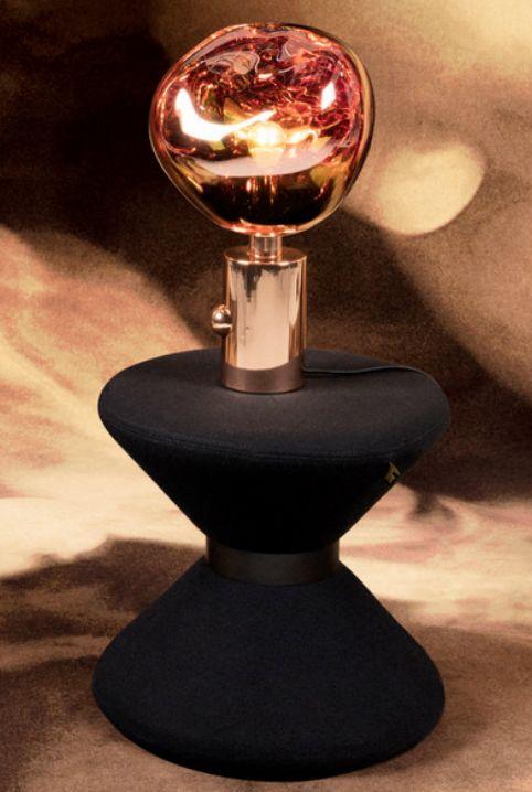 Wat: Melt Tafellamp Ontwerper/fabrikant: Tom Dixon Herkomst: Zweden Materiaal: Kunststof Prijs: €605