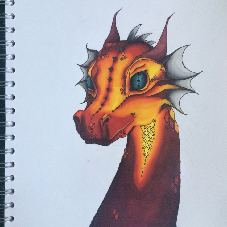 A4 dragon with Promarkers
