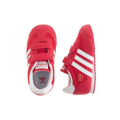 Kids\u0027 junior Adidas� Dragon sneakers in red and white