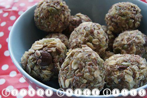Quinoa Snack Balls - a no bake recipe for a tasty snack or lunch box treat