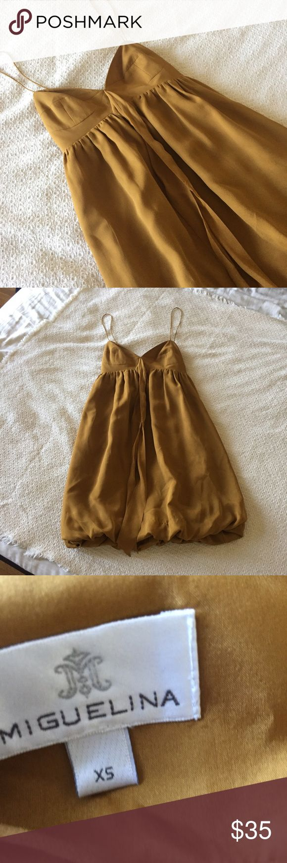 Miguelina gold silk tank top Miguelina gold silk tank top Miguelina  Tops Tank Tops