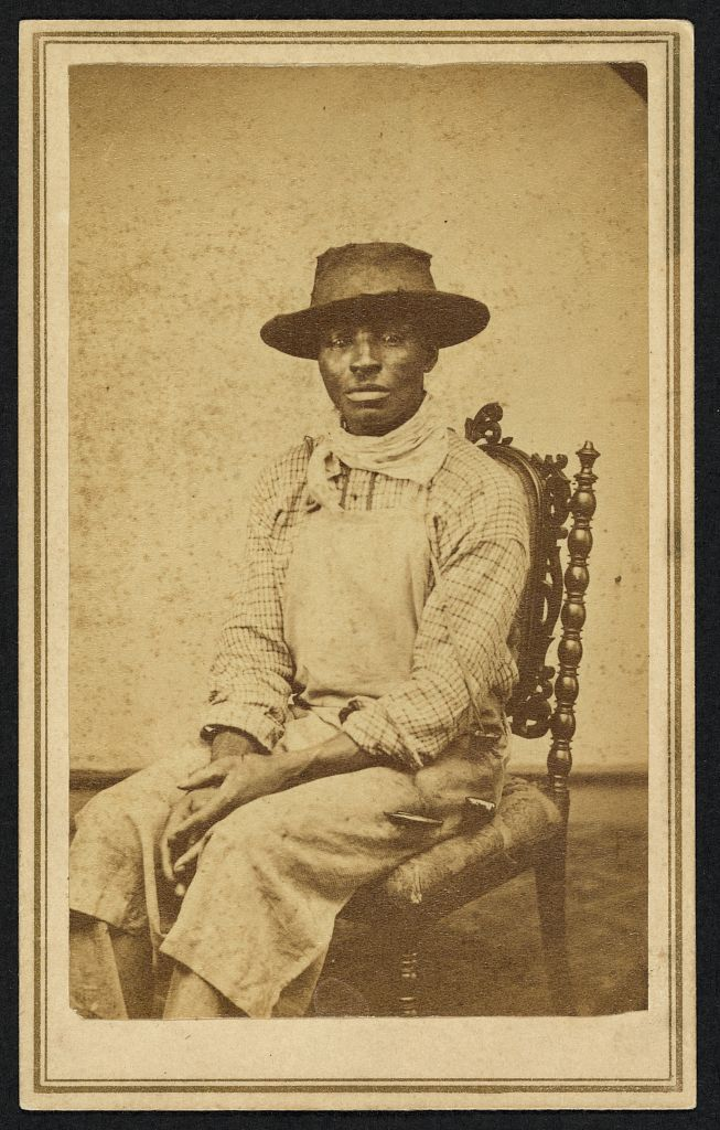 Unknown African American Man 1860 1870 Victorian People