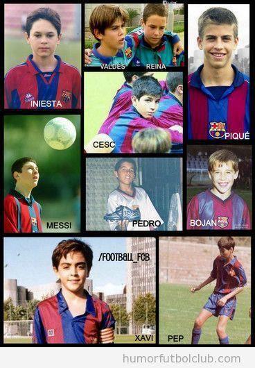 Jugadores del Barça de pequeños
