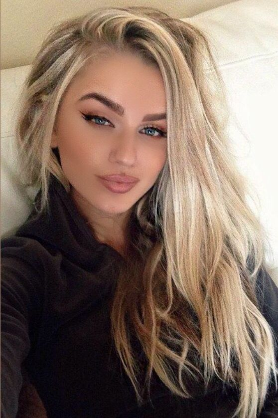 New hair color long hairstyle platinum highlights with ash blonde lowlights2014/2015 pretty new winter hair color hair style hair trends medium long layers and swoopy bangs curls cool vanilla ash platinum blonde balayage highlights peekaboos lowlights ombre natural clean makeup #JacQuelineK