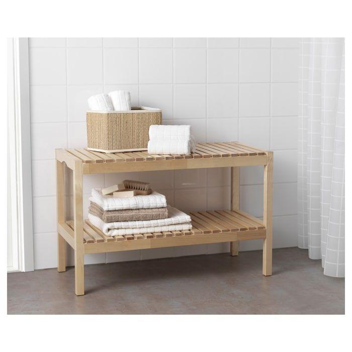 Panche Di Legno Ikea.Molger Panca Betulla Panca Da Bagno Interior Design Per
