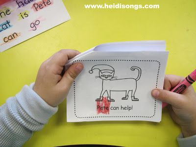 Here are THREE great freebies with a Pete the Cat Christmas theme for Pre-K, Kindergarten, or first grade language arts and math from HeidiSongs.  Enjoy!