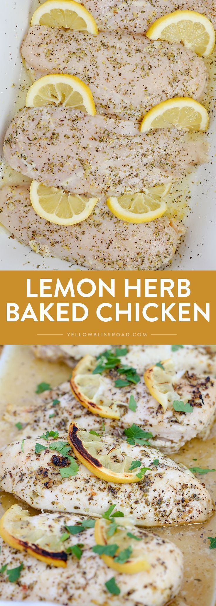 Baked Lemon Chicken is sure to be a new weeknight dinner staple. The most tender and juicy chicken ever, and so easy and full of flavor!