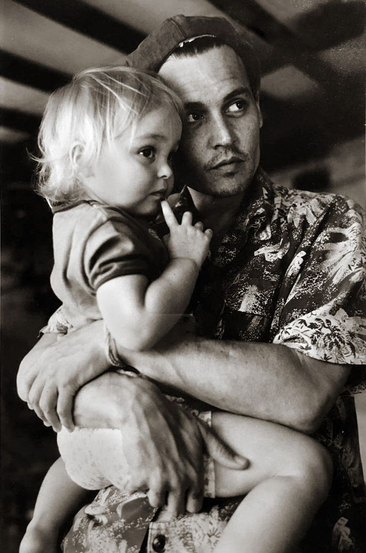 Johnny Depp with his daughter Lily-Rose Photoshoot - 2002