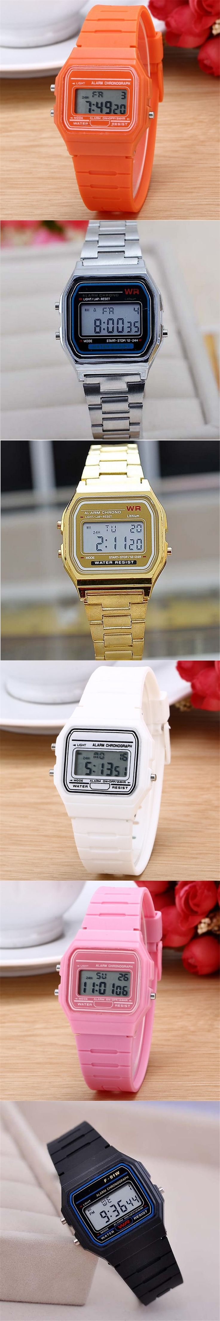 2017 High quality men/ women dress sports watches whatch women gold silver Silicone  Couple Watch digital watch square military
