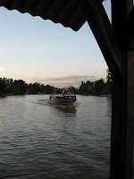 Travel by water taxi to the restaurant in El Tigre, Buenos Aires, Argentina