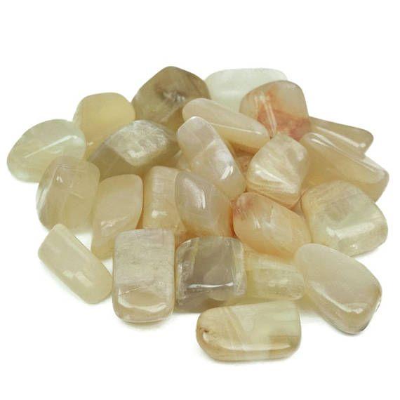 Small Moonstone Crystal  Moonstone Tumble Stone Tumbled