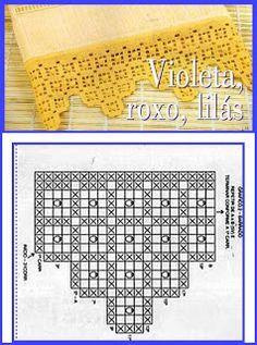 barra toalha croche geometrico - Pesquisa Google