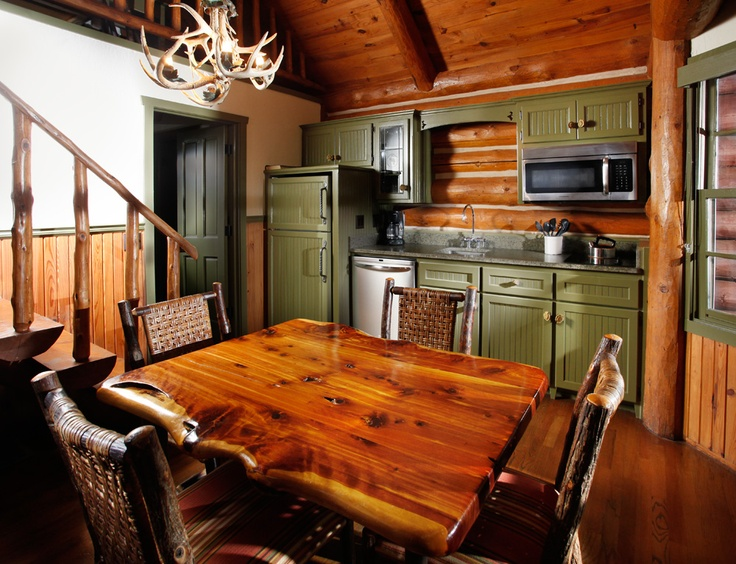 Your own kitchen in your cabin at Big Cedar Life at the