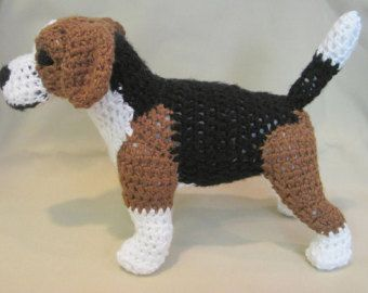 **This is a Pattern, NOT a finished toy**  *****AVAILABLE IN U.S. ENGLISH ONLY*****  All this little guy wants to do is curl up and snuggle with you.. He has the coloring and attributes of a realistic Lab. He measures 10L x 8H x 4W and is made from my own original pattern. He works up pretty quickly and uses only the simplest of stitches.  What you need to know: Chain, slip stitch, single crochet, single crochet decrease, half double crochet, half double crochet decrease, whip stitch and…