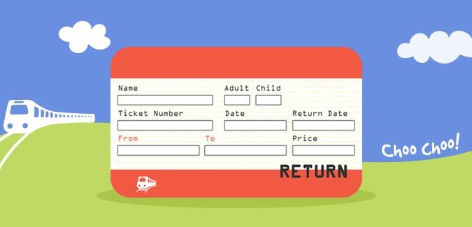 A printable set of UK train ticket templates. There are 8 tickets to an A4 page as well as a single image version. Great for role-play, travel topics etc.