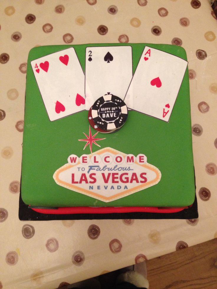 Las Vegas cake I made for a friends fiance's 30th