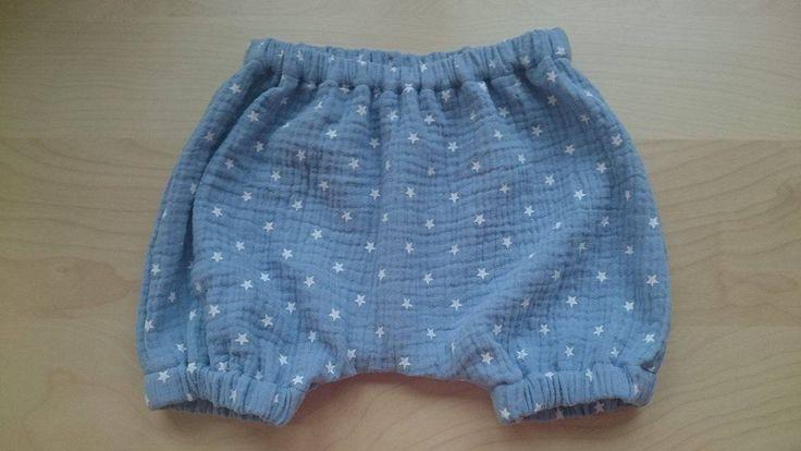 Bloomers Musselin Shorts Baby/Kind blau Spielhose kurze ...