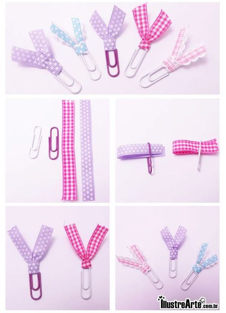 Blog Sanlilu: Clips Decorados com Fita                                                                                                                                                      More