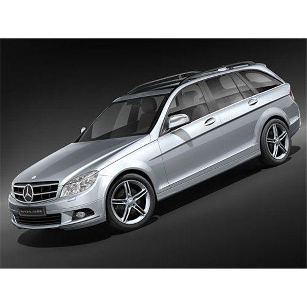 Mercedes C-class 2008 Estate Midpoly - 3D Model