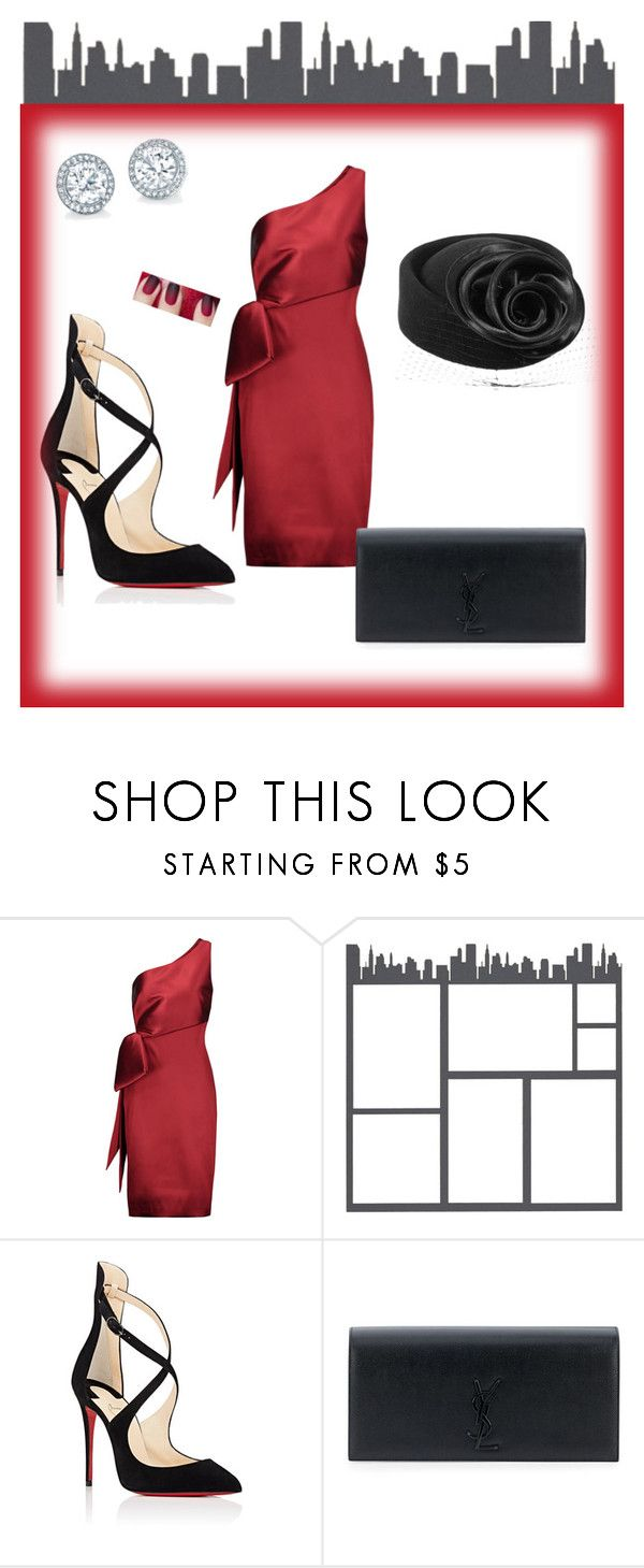 """Cocktail Hat"" by blackseed ❤ liked on Polyvore featuring NOIR Sachin + Babi, Christian Louboutin and Yves Saint Laurent"