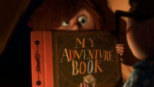 how to make the adventure book from Up!