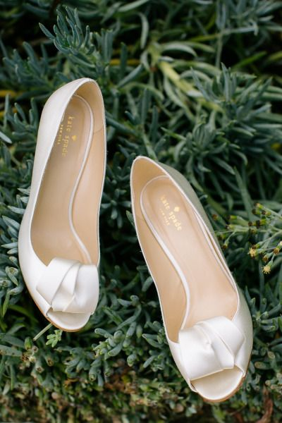 Satin shoes: http://www.stylemepretty.com/california-weddings/san-diego/2015/01/22/elegant-garden-wedding-in-san-diego/ | Photography: Heidi-o-photo - http://heidiophoto.com/