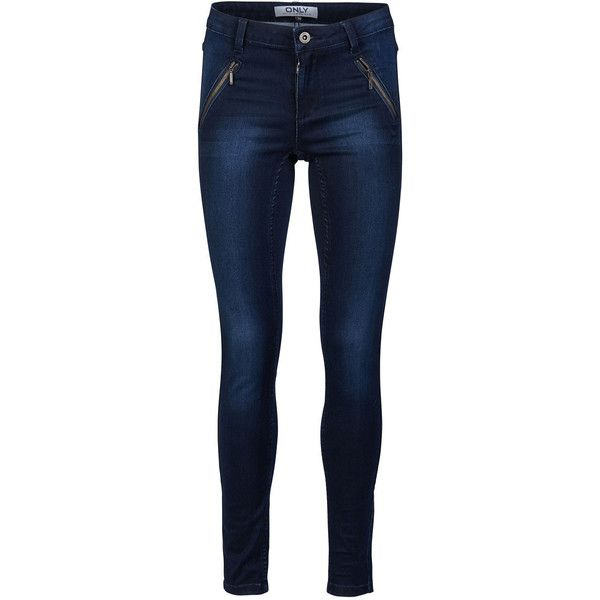 ONLY Ofelia Sk Reg. Jeggings (€28) ❤ liked on Polyvore featuring pants, leggings, dark blue denim, tall leggings, dark blue leggings, tall pants, blue jean leggings and dark blue pants