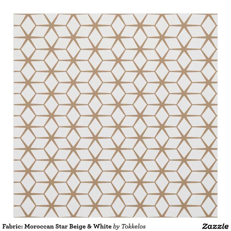 Fabric: Moroccan Star Beige & White