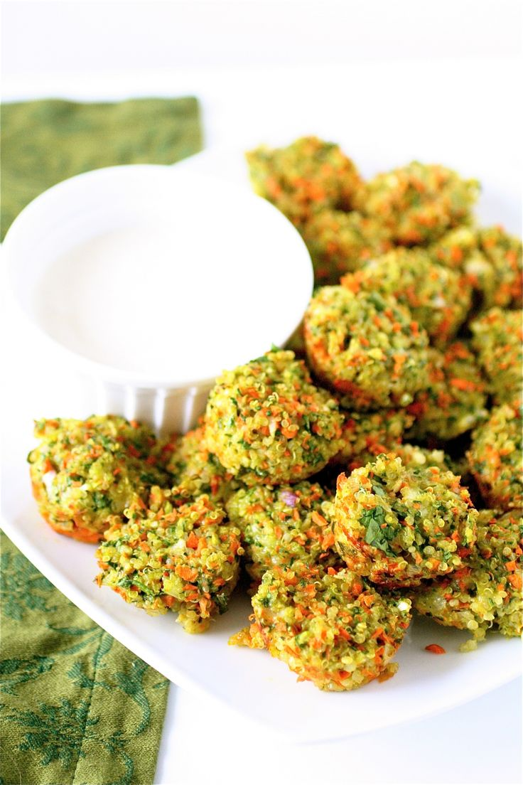 Cheese and Vegetable Quinoa Bites