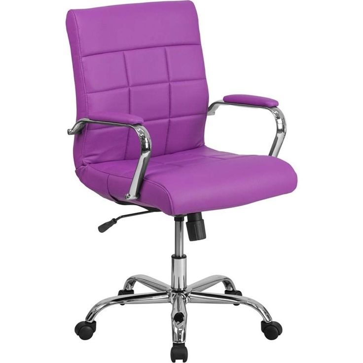 Offex Mid-back Vinyl and Chrome Executive Swivel Office Chair