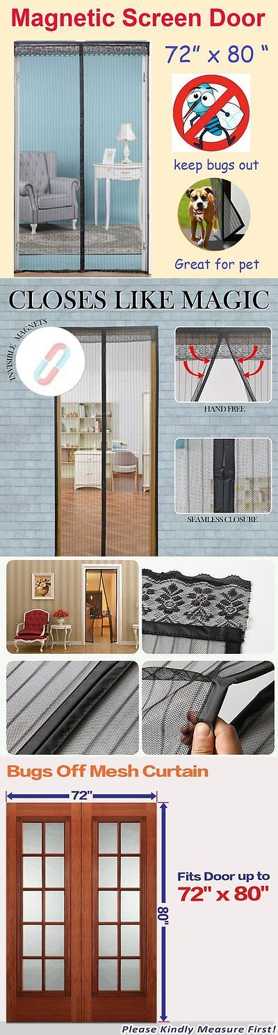 Other Window Accessories 180114: 72 X80 Magnetic Screen French, Sliding  Glass, Patio Door