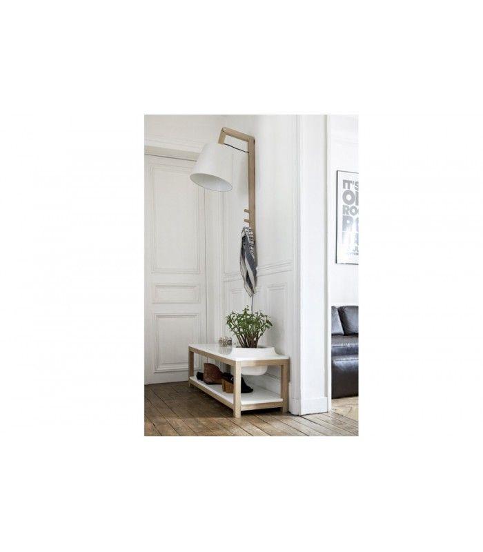 OUD M, lampe ou porte-manteau, pratique & design || OUD M, lamp or coat rack, practical and design. Designed by Anneline Letard.