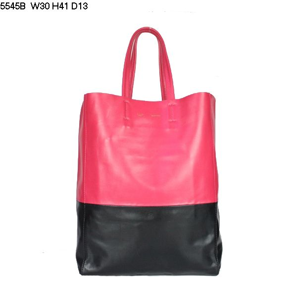 Celine Cabas Lambskin Leather Shopping Bag Red 5545B        $179.00